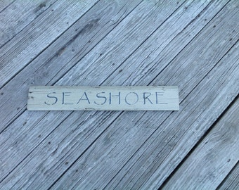 Seashore sign,coastal,Beachy,nautical,sand, shells,seaside,beach