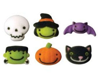 Frightful Friends Assorted Edible Sugar Dec-Ons-Package in a set of 12, 2 of each design.