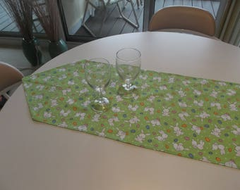 Bunnies and Easter Eggs Table Runner