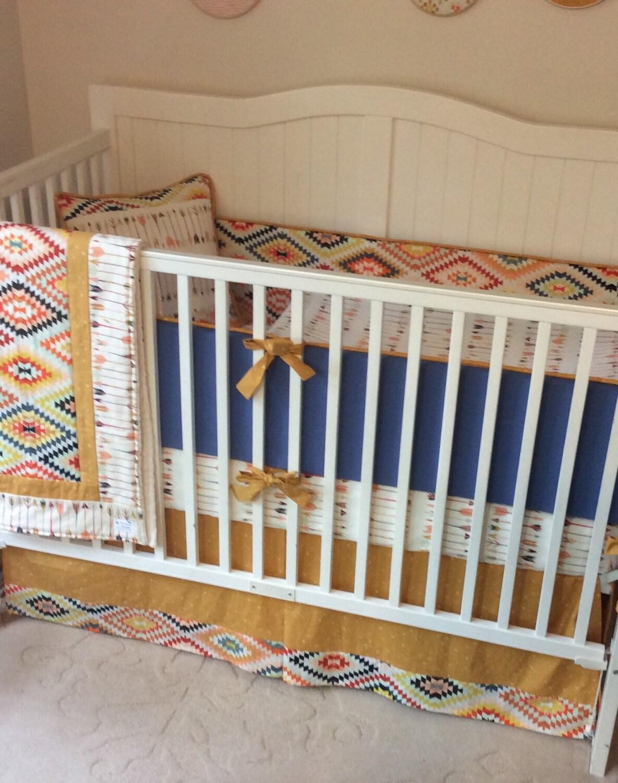 denim blue and gold rustic crib bedding set deposit. Black Bedroom Furniture Sets. Home Design Ideas