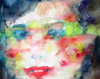 SERENA - original watercolor painting - one of a kind!