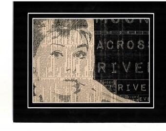 187 Audrey Hepburn Typography Vintage dictionary art
