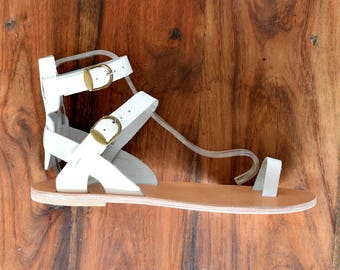 Handmade Sandals, Greek leather sandals, Men Flip Flops, Men Sandals, White Leather Sandals, Genuine Leather sandals, Sport Sandals
