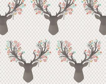 Baby Crib fitted sheet, Baby/Toddler Blanket, Girl deer crib sheet, Baby girl woodland nursery