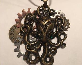 Steampunk Octopus Necklace