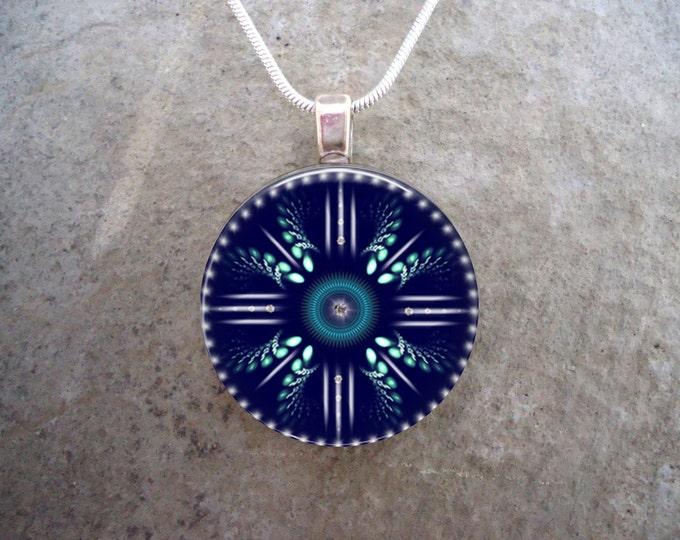Mandala Jewelry - Glass Pendant Necklace - Mandala 18