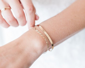 Wedding Date Bracelet, Wedding Day Gift for the Bride, Roman Numeral Date Cuff Bracelet, 14k Gold Fill, Rose Gold Fill or Sterling Silver