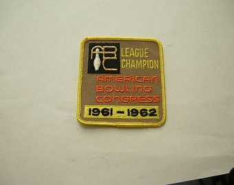 1961-62 Bowling Patch