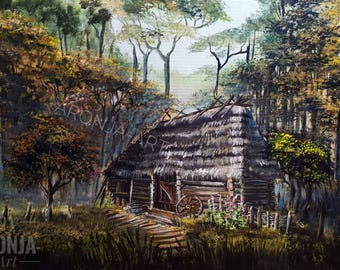 Cabin In The Forest - Print