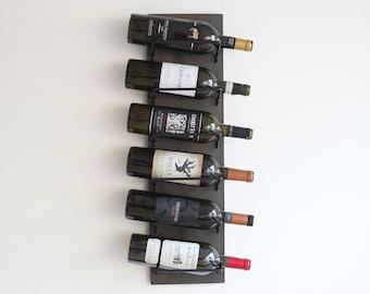 Rustic Wall Wine Rack | Wine Storage | Vertical Wood Wine Rack | Wine Bottle Storage | Wine Bottle Holder Display