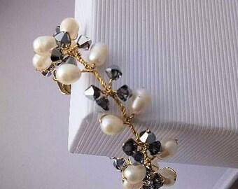 Bridal bracelet, wedding bracelet,   Swarovski