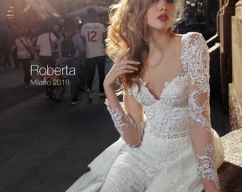 Wedding dress ROBERTA, wedding dresses, long sleeve wedding dress, bridal dress,  lace wedding dress