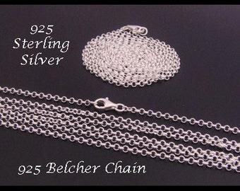 "925 Sterling Silver Chain, 70cm 28"" Long x 2.0mm | Long Belcher Chain Sterling Silver | SSC070B"