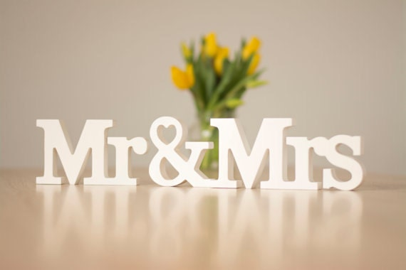 Mr and Mrs Sign Wedding Table Decoration Mr and Mrs Set Letter