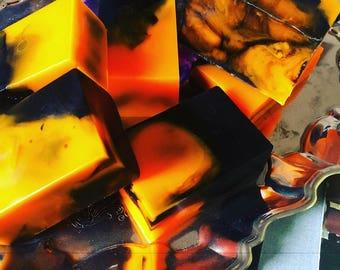 Sweet orange patchouli handcrafted soap