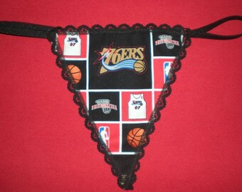 Womens PHILADELPHIA 76ers Sixers G-String Thong Nba Lingerie Basketball Underwear