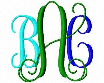 Vine Intertwined Monogram Machine Embroidery Fonts  2005