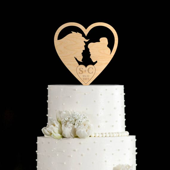 Beast Cake Topper Beauty Wedding And The 57717