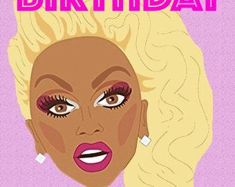 Gay 'Happy Birthday Queen' Greetings Card