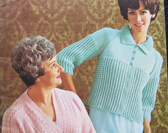 Vintage Patons Beehive Chill Chasers Knitting Pattern Book