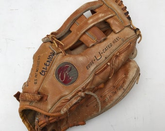 Vintage Rawlings Leather Baseball Glove - Dave Parker