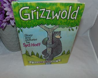 Vintage 1963 Grizzwold I can read book Harper Row Syd Hoff Bear