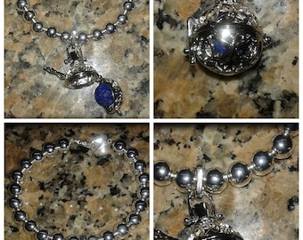 Essential Oil Diffuser Locket Bracelet With Natural Lava Stone (extra colored lava stones now included to change scents!)