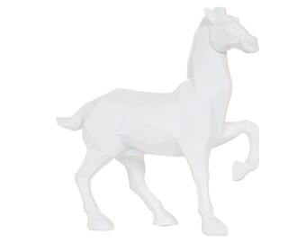 Polygon Horse Table Ornament Sculpture - W 25 cm / D 10 cm / H 27 cm