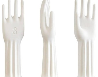 White Porcelain Glove Forms by Rosenthal