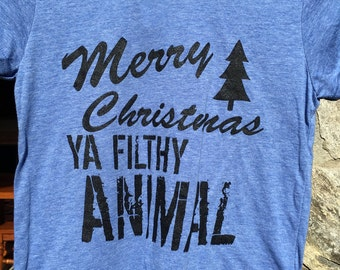 Merry Christmas Ya Filthy Animal | Home Alone | Bella Canvas Youth T Shirt