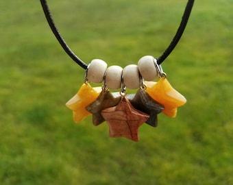 5 Star Worry Stone Fidget Necklace