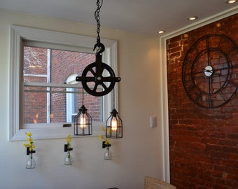 Marvelous Industrial Pulley Light   Barn Pulley Light   Industrial Light   Pulley  Light   Vintage Light