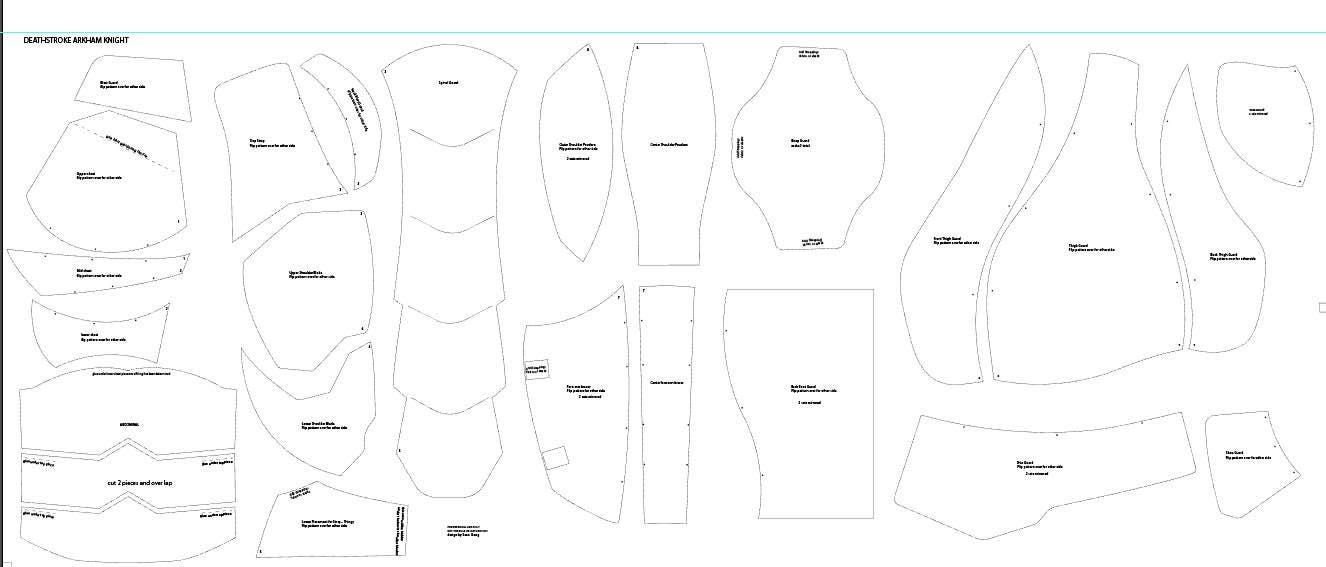 Deathstroke armor template choice image template design for Page break in rtf template