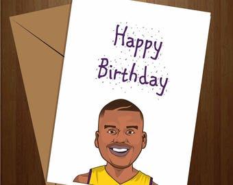 Cool birthday card etsy shaq birthday card lakers birthday card cool birthday card cool card greeting bookmarktalkfo Gallery