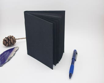 Little Black Book, Black Pages Fabric Hardcover Sketchbook Casebound Book