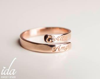 Custom name ring Etsy