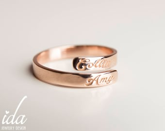 name wedding engraved rings couple ring jewelry