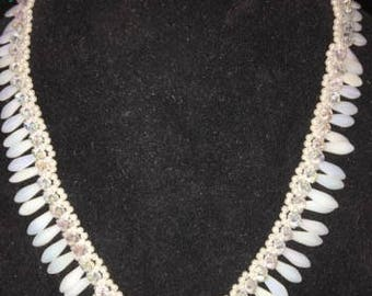 White Dagger and Crystal Necklace