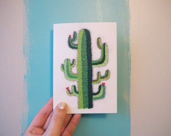 Cacti Greeting Card - Cactus - Greeting Card - Cacti Flower - Card