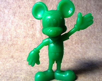 Louis Marx & Co - Walt Disney Productions Mickey Mouse. in Green Plastic from 1971