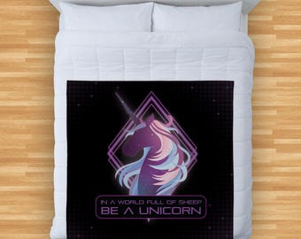 Galaxy Unicorn 3 Colourful  Design Soft Fleece Blanket Cover Throw Over Sofa Bed Blanket