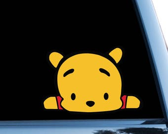 Pooh Car Sticker Disney Bumper Sticker Window Decal Vinyl Sticker Winnie The Pooh Sticker Window Stickers Luggage Stickers Computer bn685