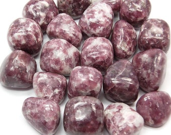 High quality tumbled Lepidolite.  All pieces hand picked!