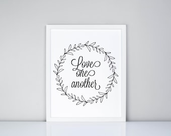 Love One Another Printable // Scripture // Religious // Bible Verse