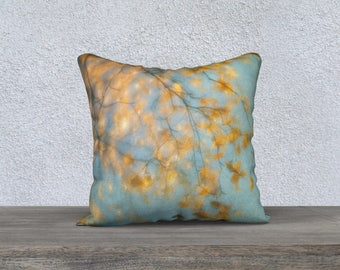 Autumn Gold Throw Pillow 18 x 18 Inch