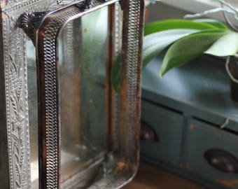 Vintage Footed Silver Serving Dish Base Reticulated Stand