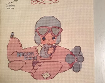 "Designs by Gloria & Pat Counted Cross Stitch Pattern Book,  ""Precious Moments OCCUPATIONS, PM-6"