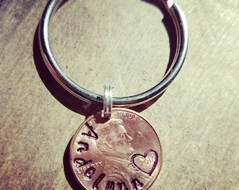 Lucky Coin, Mothers Day gift, Baby Shower gift, New Mom gift, Good Luck Charm, Fathers Day, Dads Gift, Lucky Penny, Keychain, Lucky Keychain