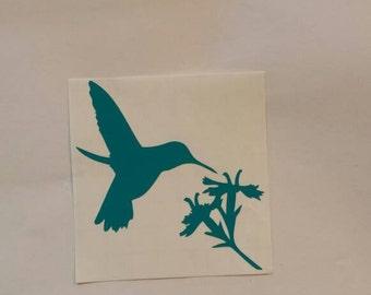 Hummingbird Decal, Bird Vinyl Sticker, Humming Bird Decor