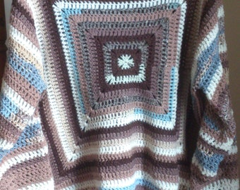 Granny Square Jumper Designed And Crocheted By Myself Size Large